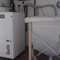 Caldera de pellet de condensación en Valle del Jerte (Cáceres)